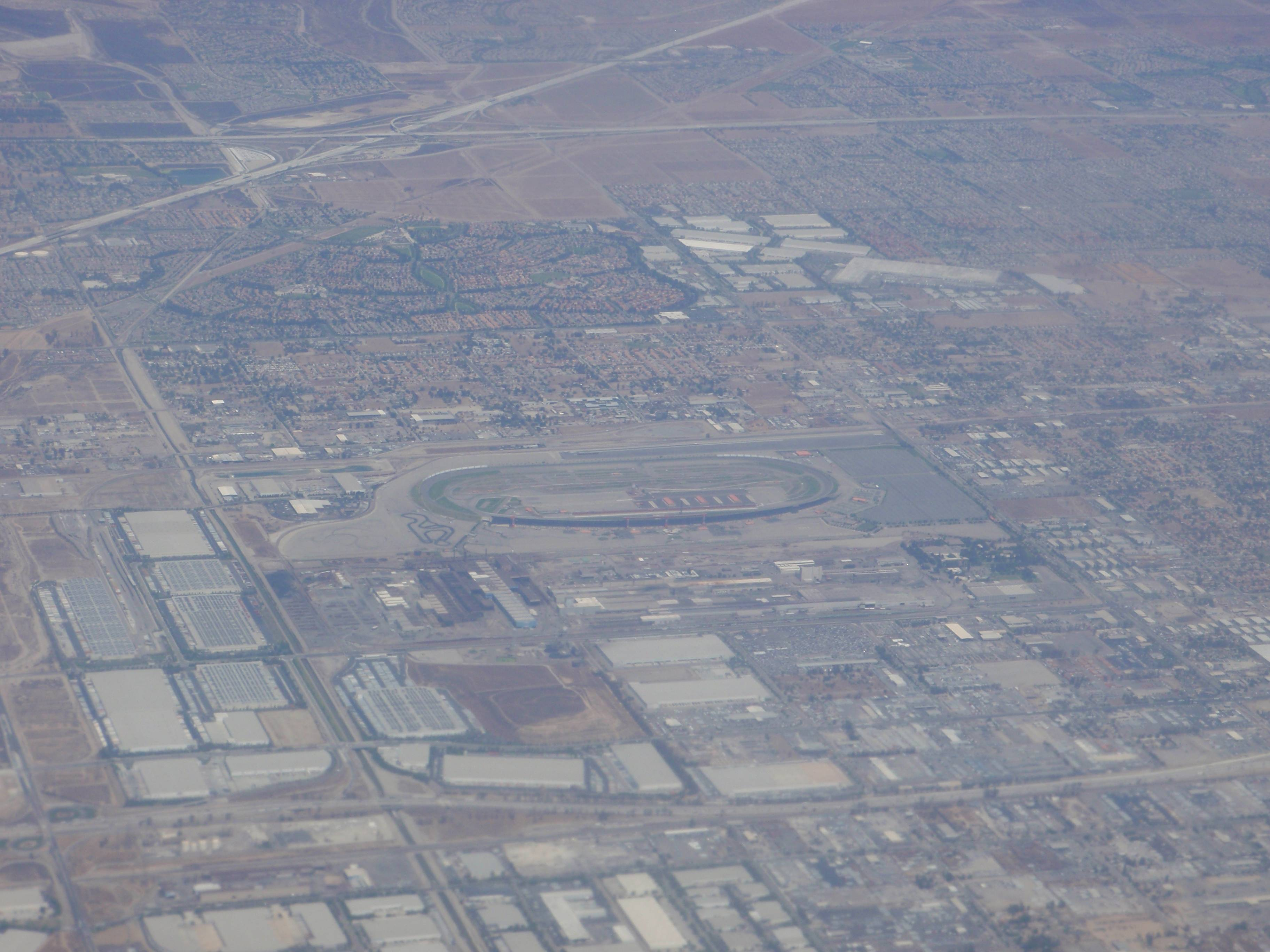 What do you see flying dfw to lax we love the stars too for Ontario motor speedway california