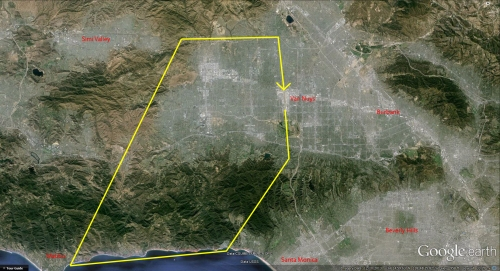 Google Earth San Fernando Valley Annotated