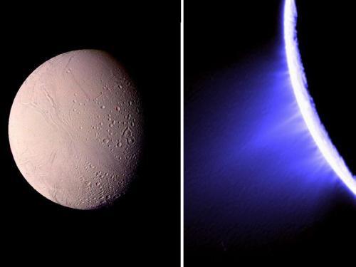 Voyager - Enceladus & Cassini Enceladus jets